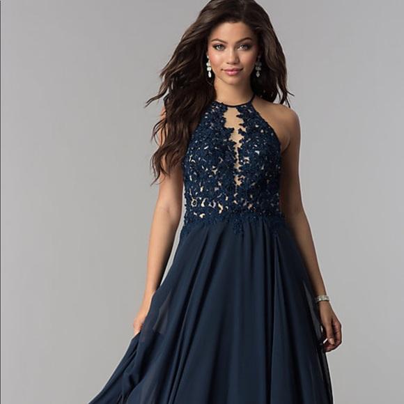 ba703ba87932 PromGirl Dresses   Blush Exclusive Long Lace Open Back Prom Dress ...